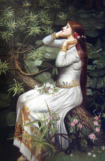 奥菲莉娅 手绘油画